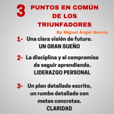 3 puntos en común de los triunfadores